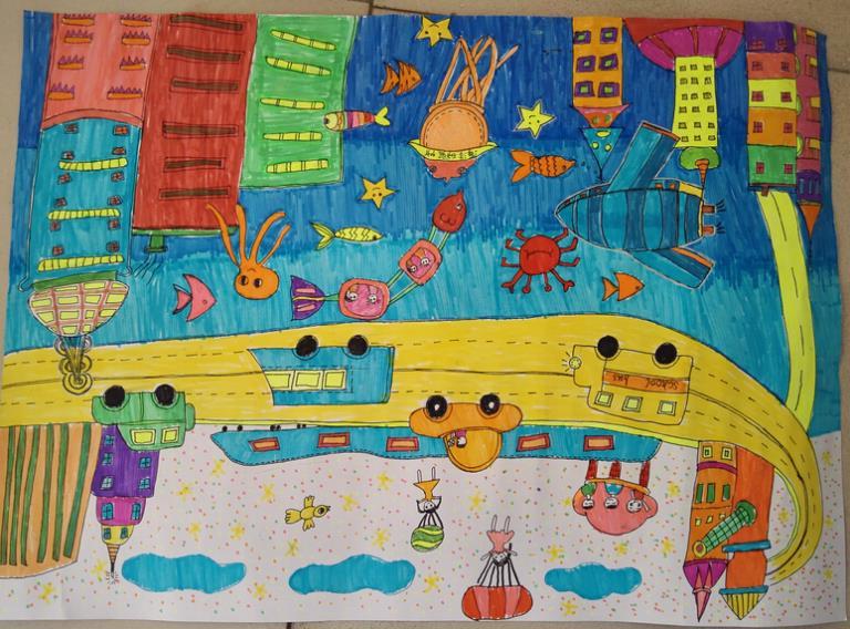 抗战历史儿童书画《《六岁儿童画画比赛《《儿童书画