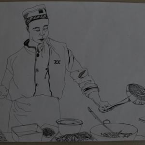 莫荞菲线描《河南美食等你来》